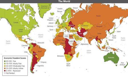"""استرالیا در رده پنجم """" آزادترین اقتصاد جهان"""" قرار گرفت"""