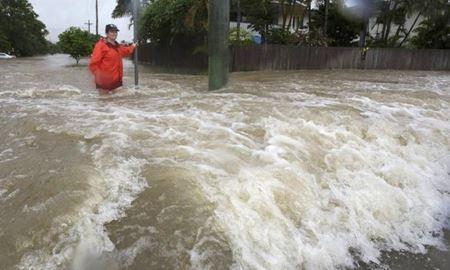 باران بی سابقه / یک متر بارندگی در ایالت کوئینزلند  استرالیا
