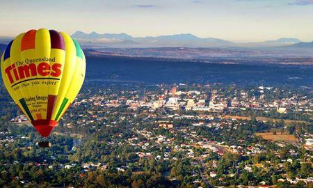 گردشگری استرالیا/پرواز با بالون به همراه صرف صبحانه بر فراز بریزبن در ایالت کوئینزلند
